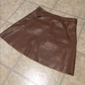 Brown leather forever 21 skirt (size M)